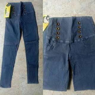 Celana Jeans Wanita Highwaist 4 Botton