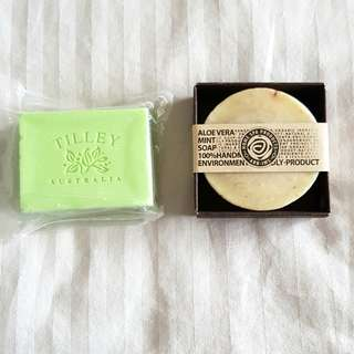 Reduced: Soap new Tully Australia and ARB-IMS Aloe Vera Mint