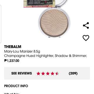 Authentic The Balm Mary-Lou Manizer Highlighter