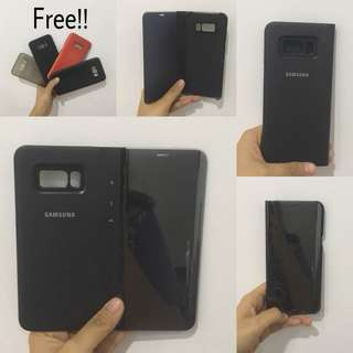 Samsung S8+ Clear View Standing Cover Casing