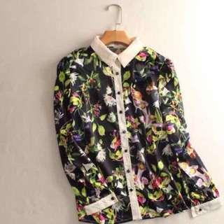 Floral Long Sleeve -Office Wear