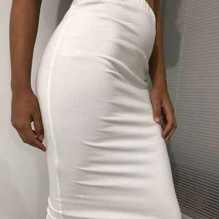 ASOS White, Cotton Pencil Skirt