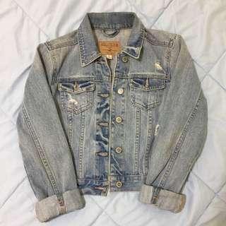 Hollister distressed jean jacket