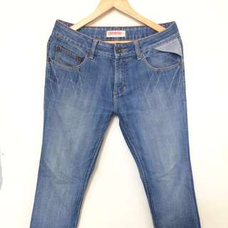 Penshoppe light acidwash denim jeans