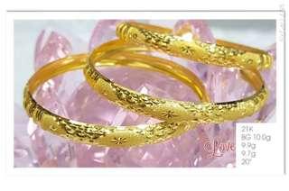 Pawnable!!! 21K saudi gold bangles
