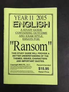 Ransom Study Guide with sample essays