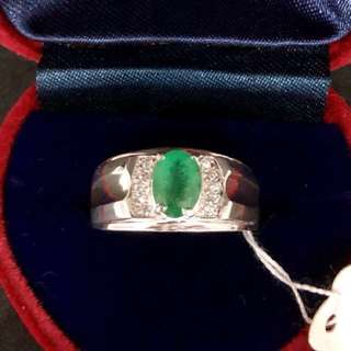 100% Genuine Emerald Gemstone Ring