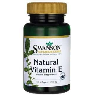 (USGMP) SW136 Swanson Premium Natural Vitamin E 維他命E 抗氧化 200IU 100粒