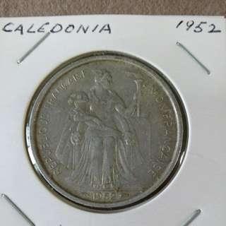 1952 New Caledonia 5 francs