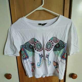 Print t-shirt xxs