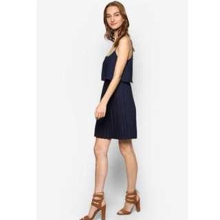 Zalora Love Double LAayered Pleated Dress
