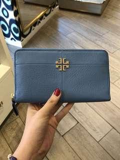 Tory Burch Ivy Zip Continental Wallet blue