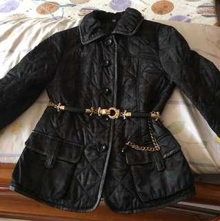 🚚 墨綠黑格紋外套(不售腰帶)