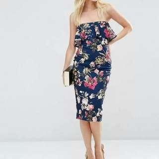 💋3D Floral Off Shoulder Dress