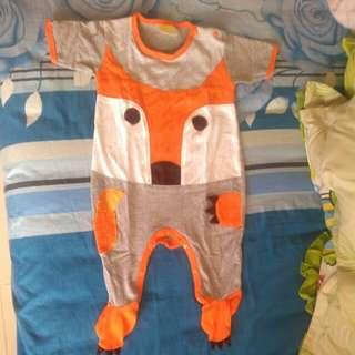 Romper / Jumpsuit / Jumper Fox lengan pendek tutup kaki