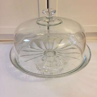 Glass Cake Stand / Punch Bowl