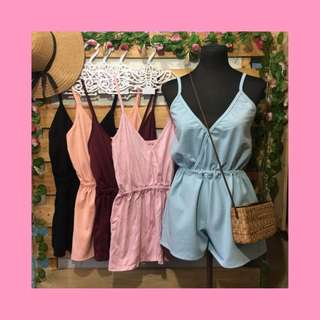 Annie plain romper without sleeves