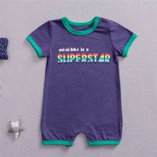 Blue super mini bbc romper*INSTOCK*