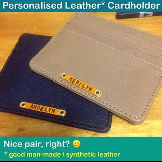 Personalised Faux Leather Cardholder [good man-made / synthetic leather; good workmanship; rivet mount nameplate wordplate unisex gifts handmade uncle.anthony uncle anthony uac] FOR MORE PICTURES & DETAILS, GO: 👉 http://carousell.com/p/145606065