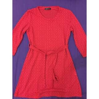 Simplicity red dress imlek