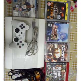 ps3 500GB with 3 controller and games