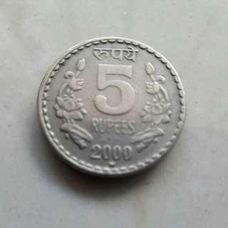 5 RupeesIndira Gandhi