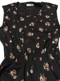 Dark Brown Floral Dress
