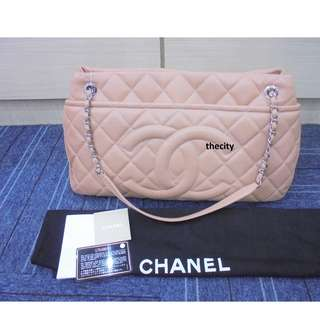 AUTHENTIC CHANEL TIMELESS LARGE CAVIAR LEATHER TOTE - LIKE NEW !