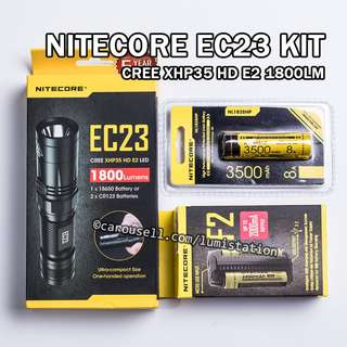 (HOT - $128) NITECORE EC23 CREE XHP35 HD E2 1800lm 18650/ 2xCR123 EDC Flashlight 2018 KIT - CNY