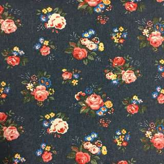 Vintage English rose flower 🌹 cotton canvas fabric/kain diy cloth