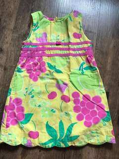 Lilly pulitzer summer fruity dress