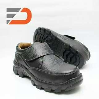 sepatu safety kulit asli