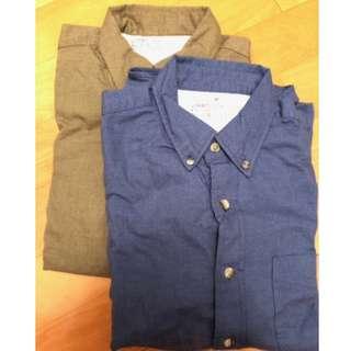 MUJI Fannel Men's Shirt 100% New