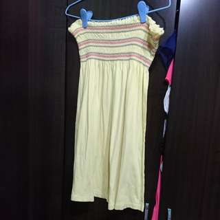 Tube Dress yellow size s to m