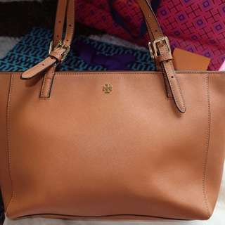 Tory Burch York Buckle Brown Authentic