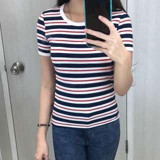 H&M stripe tee size XS