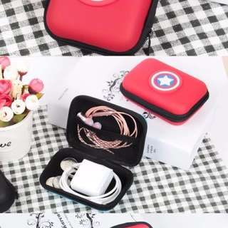 Earpiece case, charger case, case for plugs and wires