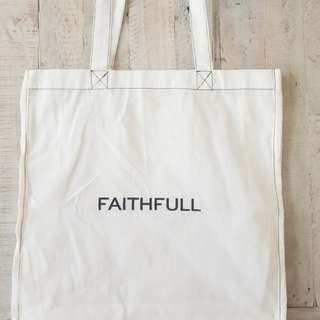 FAITHFULL THE BRAND Cotton Shopper Tote Bag