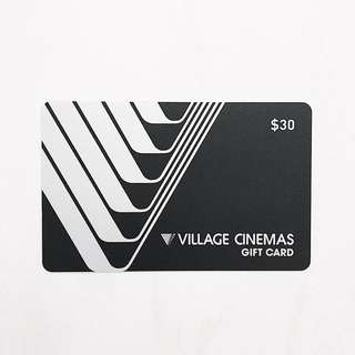 Village cinemas $30 gift card