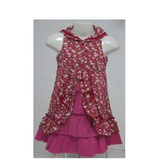 #FREE SHIPPING# FLORAL SLEEVELESS DRESS FOR GIRLS AGE 1 TO 2 YEARS OLD