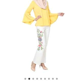 Demelza Embroidered Floral Jeans Poplook