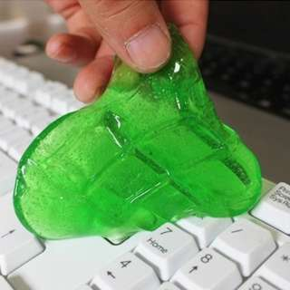 [INSTOCK!] Antibacterial Keyboard slime cleaner, gets rid of dirt, dust, germs, food, crumbs. Sanitizes and disinfects. Multipurpose, Reusable