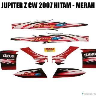Striping Jupiter Z CW 2007 Hitam - Merah