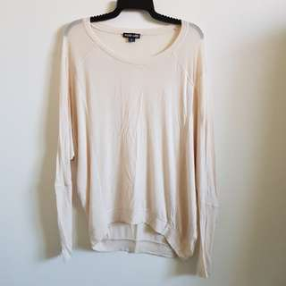 Sheer Beige Long Sleeve Top