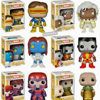 X-Men Marvel Classic SET of 6 Funko Pop