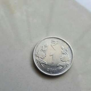 1 RUPEE COINS OF INDIA, 2011