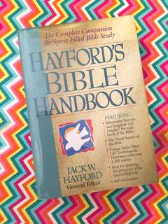 Charity Sale! Hayford's Bible Handbook by Jack Hayford Book