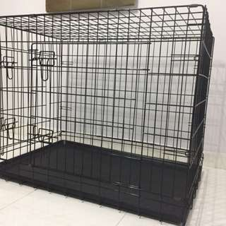 Foldable 2 door Large Pet Cage