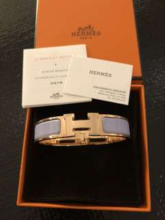 Hermes Clic H in Purple粉紫色