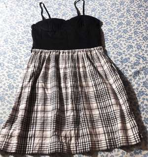 People Are People Black Checkered Dress